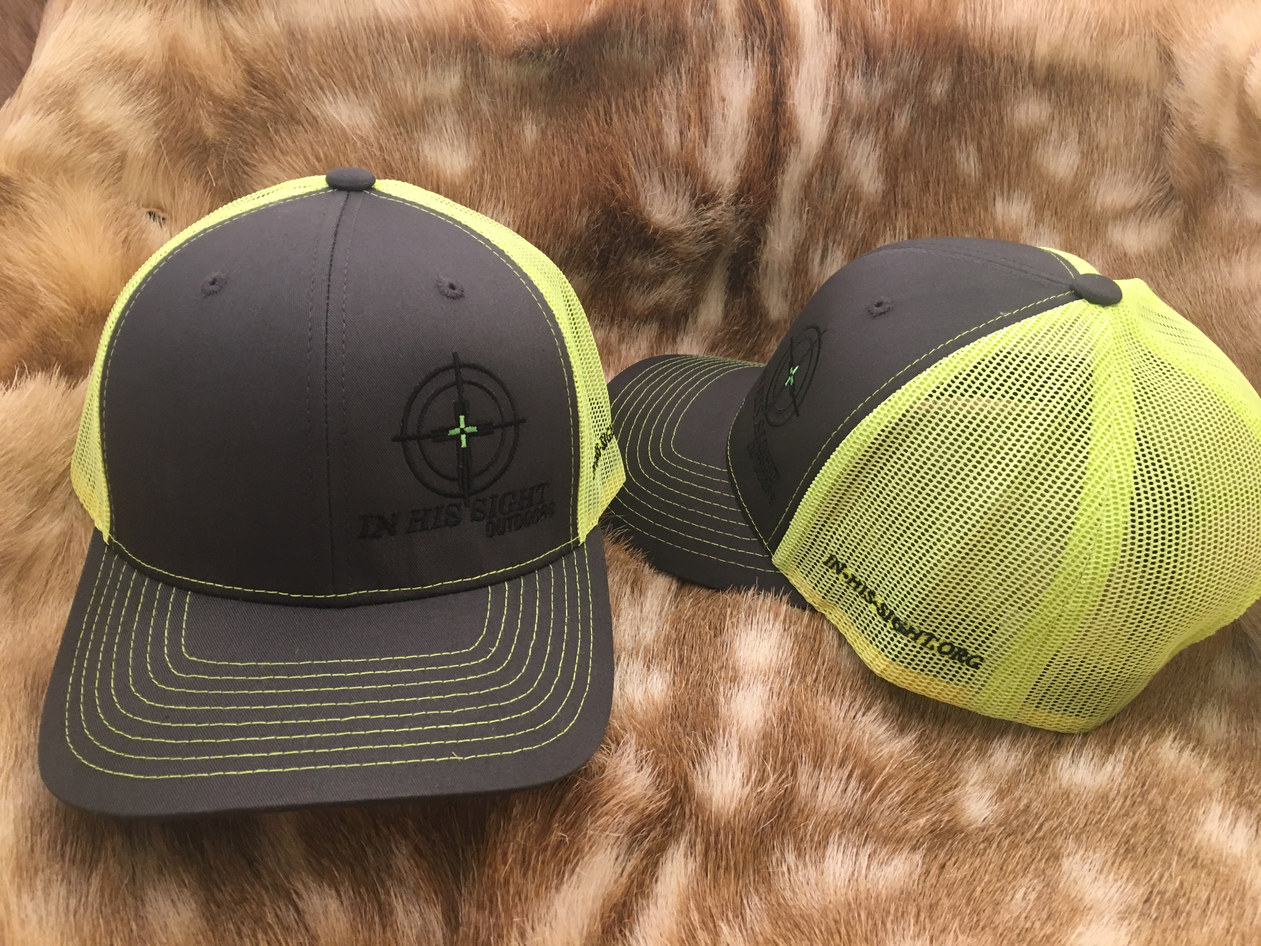 Grey / Neon Yellow Logo Cap