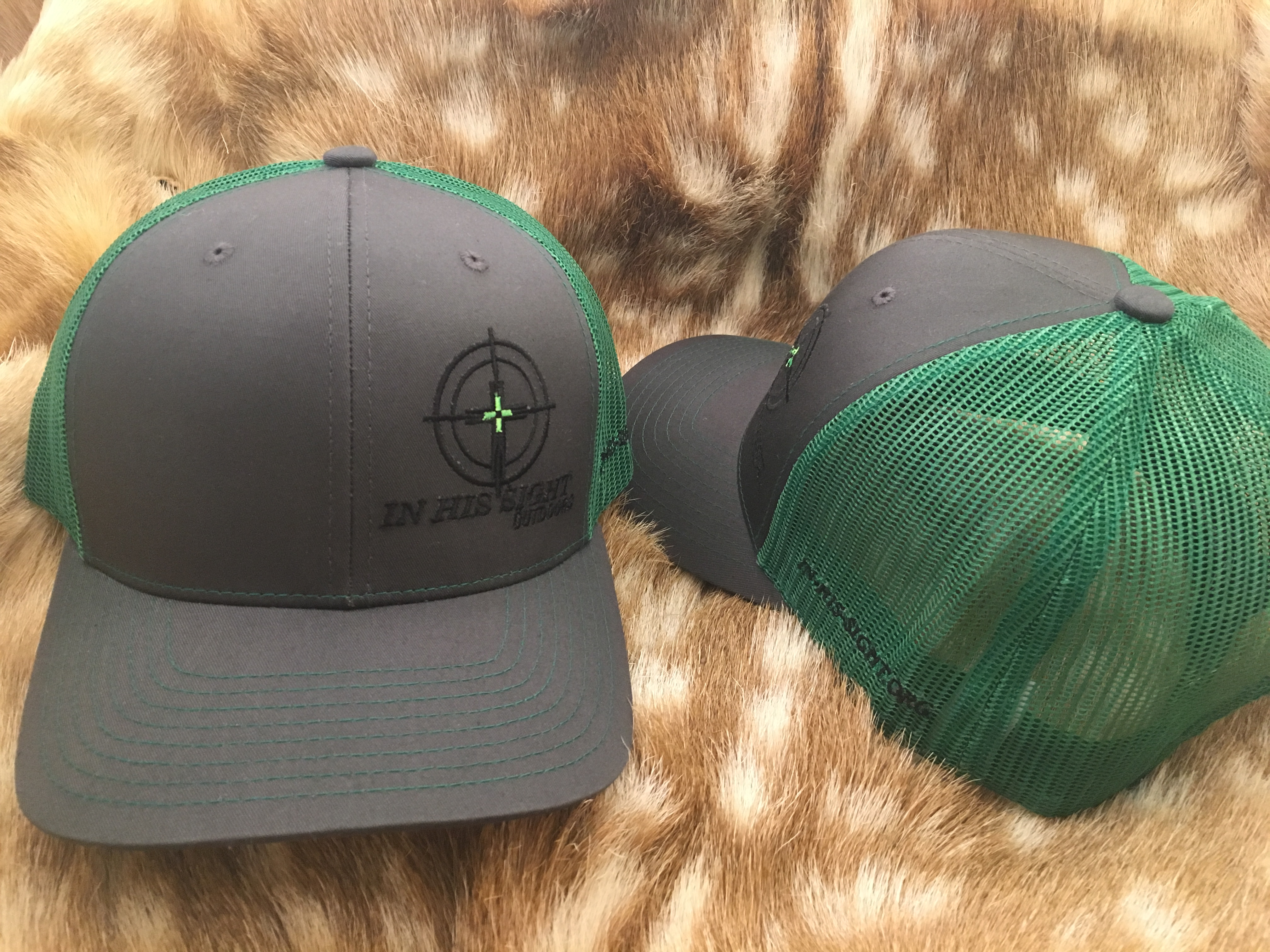 Grey / Green Logo Cap