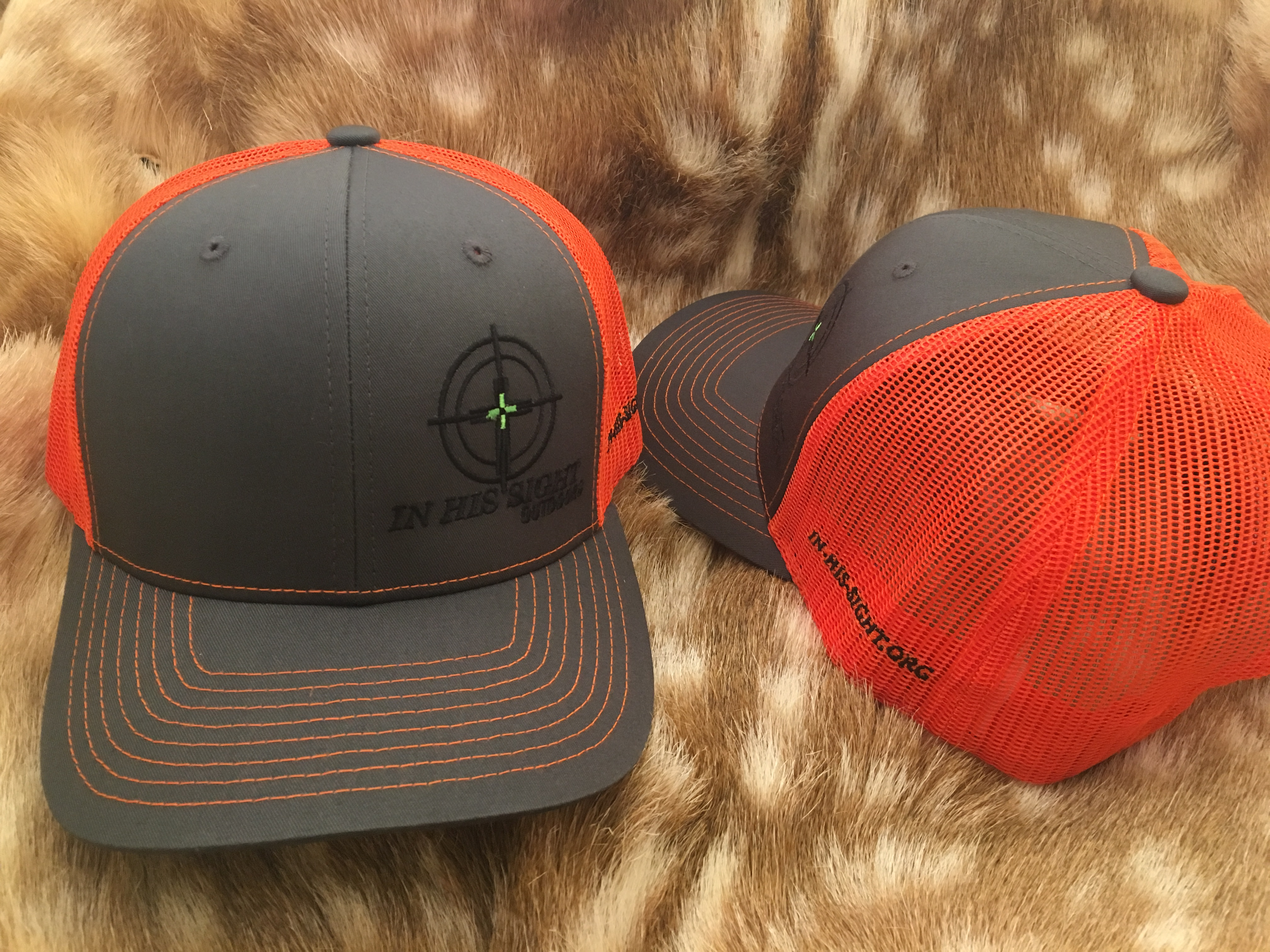 Grey / Orange Logo Cap